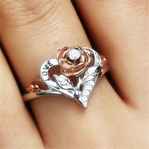 Jewelry - Rose Lover 925 Silver White Topaz Ring